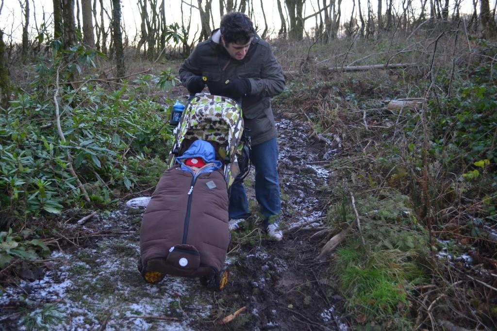 Bluestone in Wales muddy nature trail
