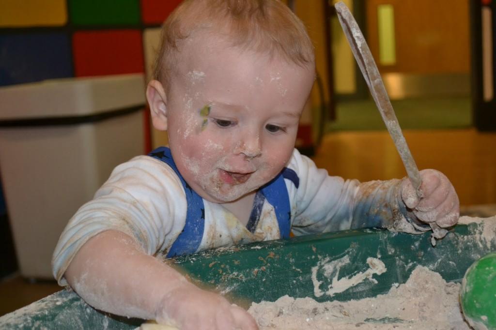 Bluestone in Wales messy play