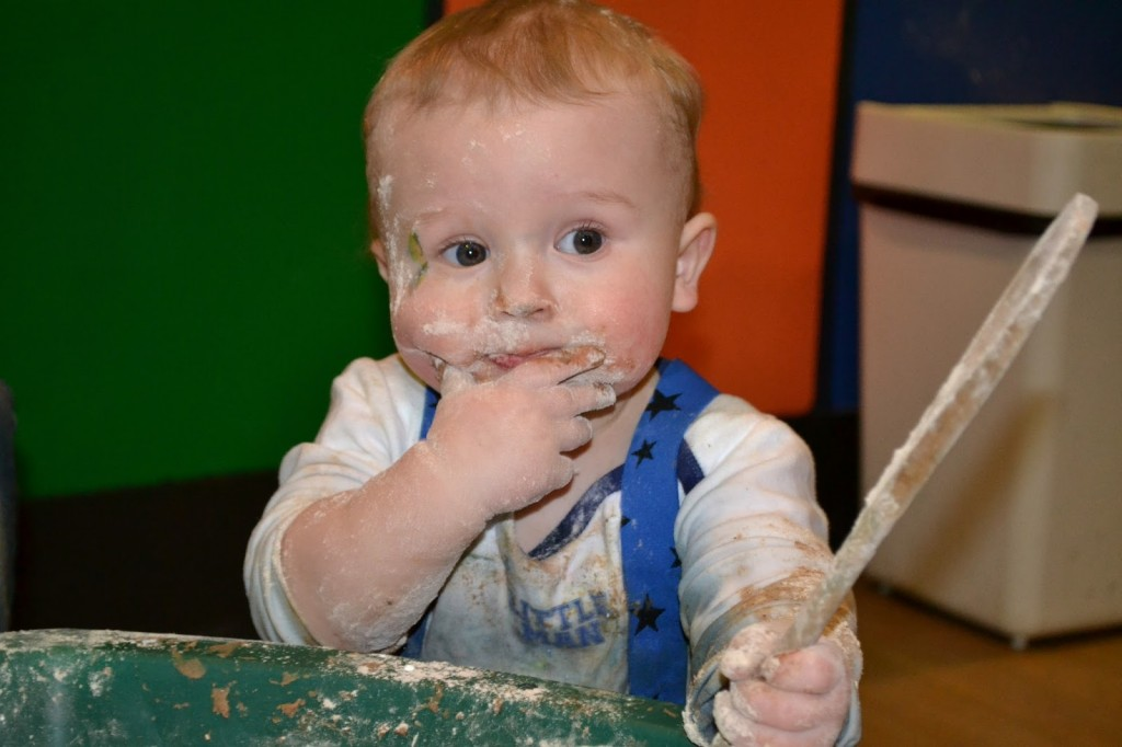Bluestone in Wales messy play
