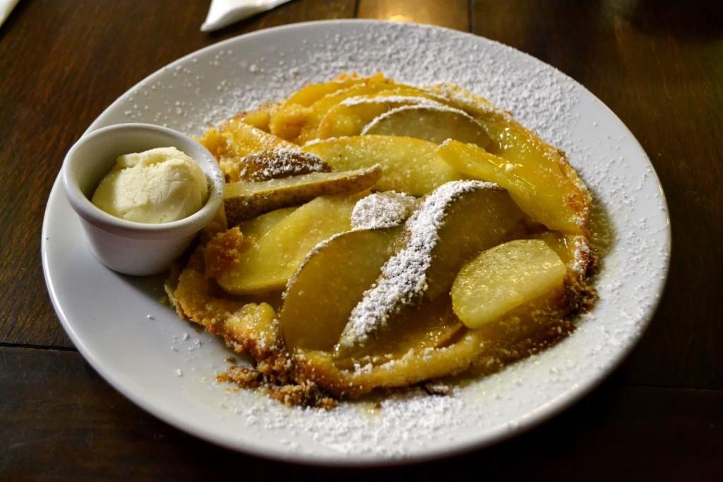 The Sausage Emporium, Newcastle apple and pear tart tartin