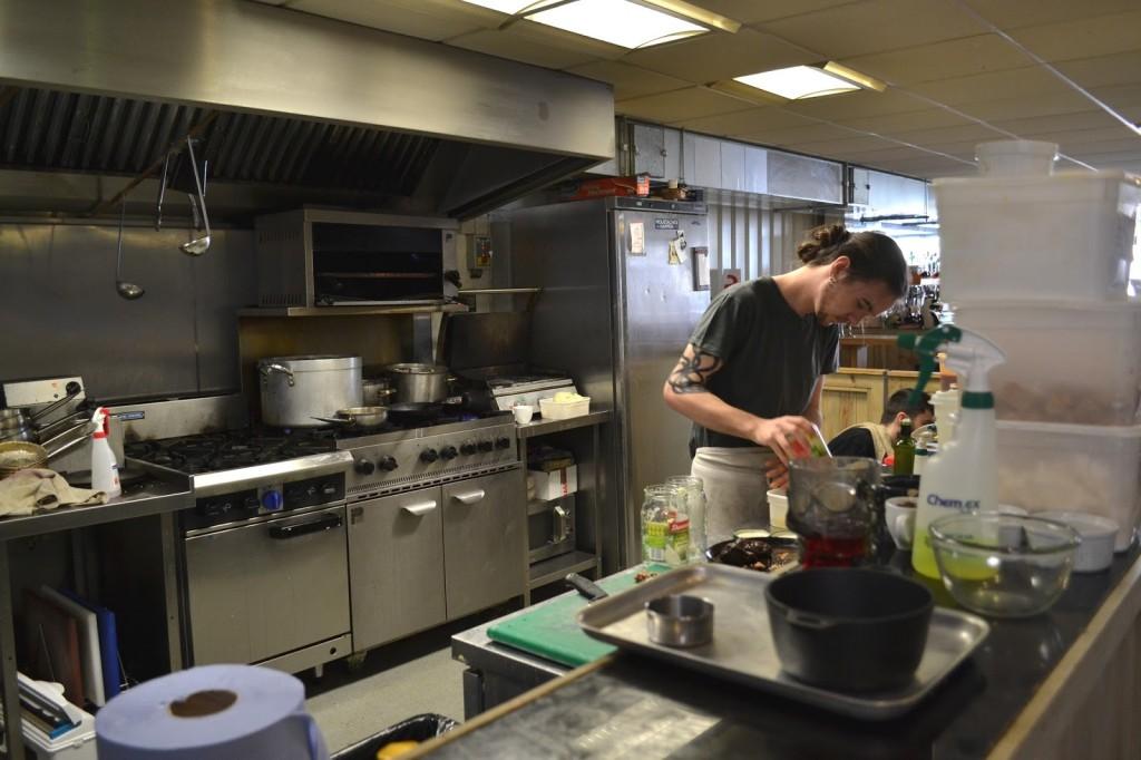 The Sausage Emporium, Newcastle open plan kitchen