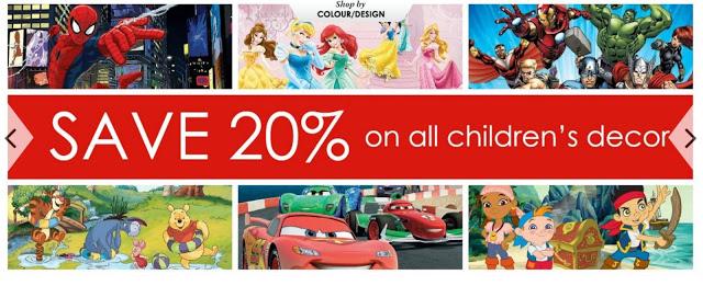 Save 25% on Graham and Brown's children's range