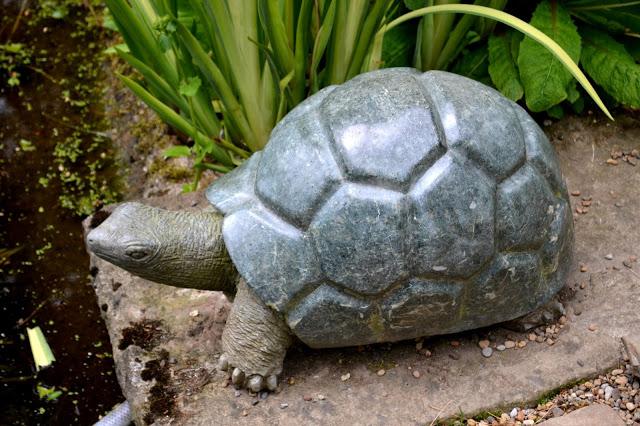 Stone tortoise at Newby Hall