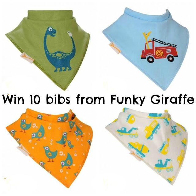 Win 10 bibs from Funky Giraffe