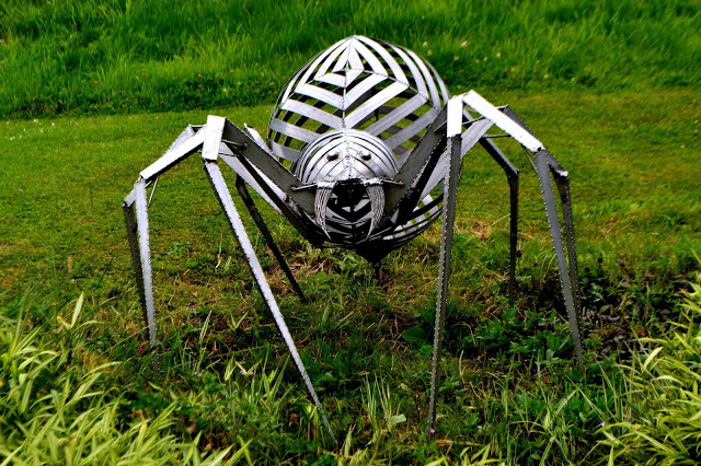 metal spider sculpture at Lightwater Valley