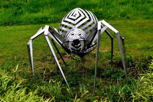 metal spider sculpture at Lightwater Valley