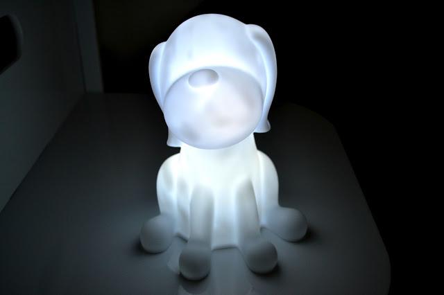 PK Green dog night light lit up white