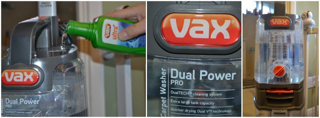 Vax Dual Power Pro Carpet Cleaner cleaning fluid