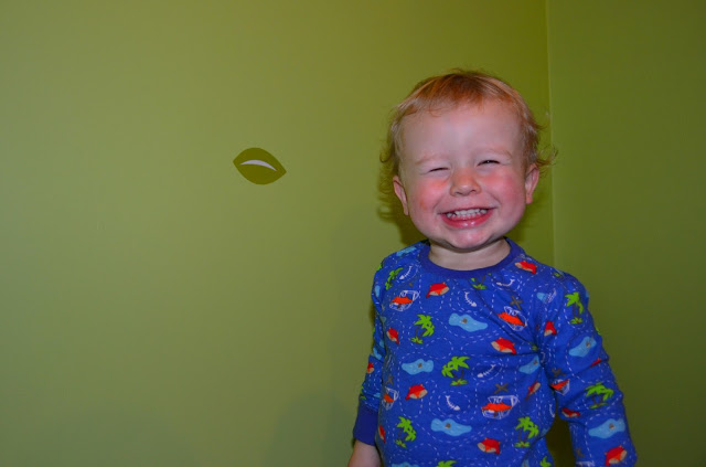 Smily child wearing Enchanted Forest and Friends pyjamas