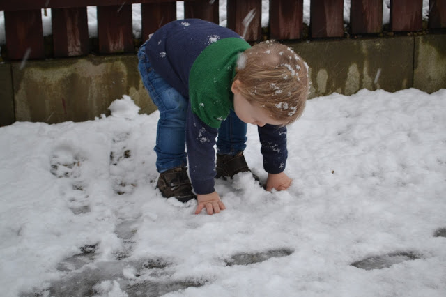 Touching snow for the first time