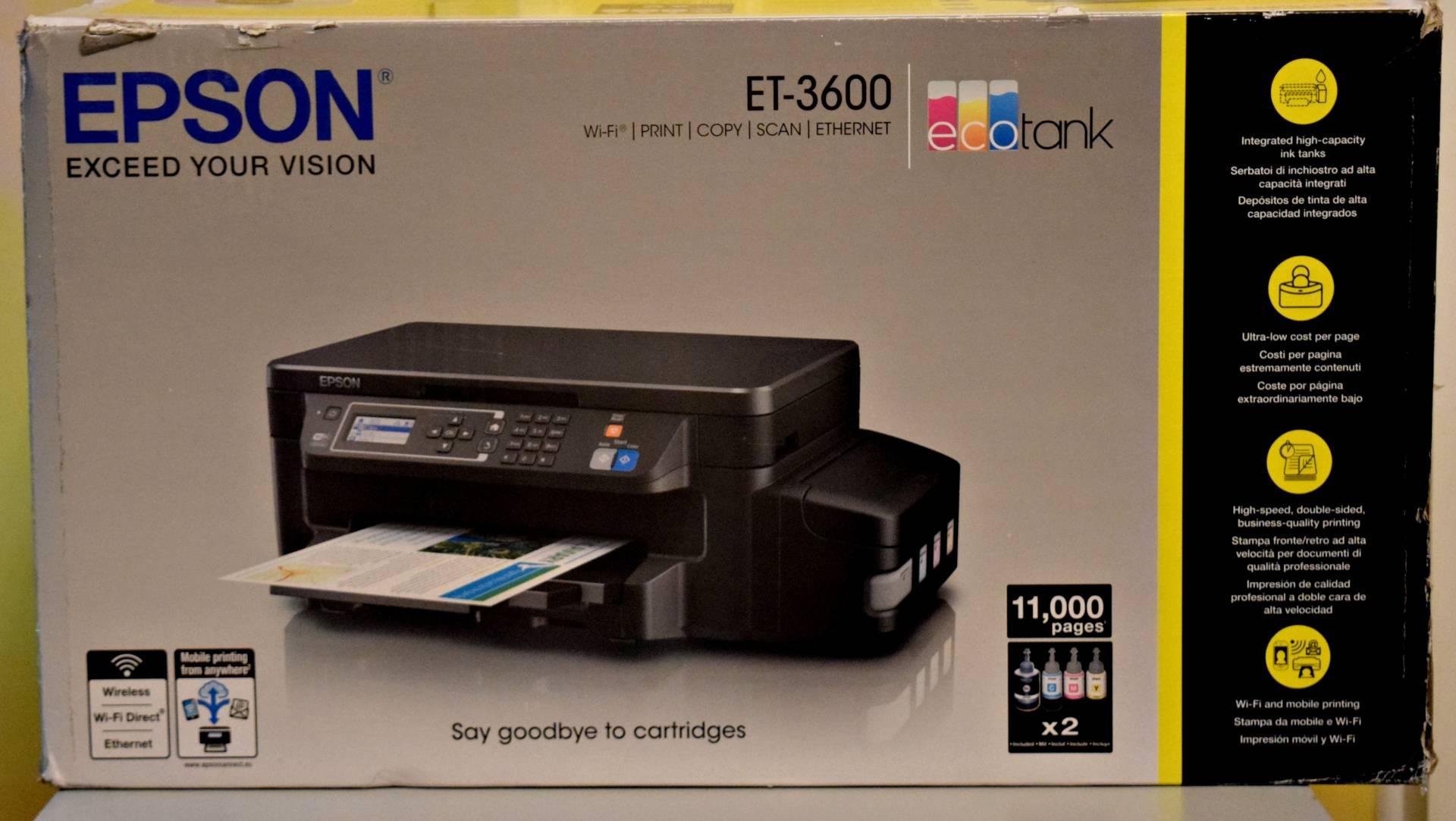 Epson EcoTank ET-3600 3-in-1 inkjet Printer review - Rock