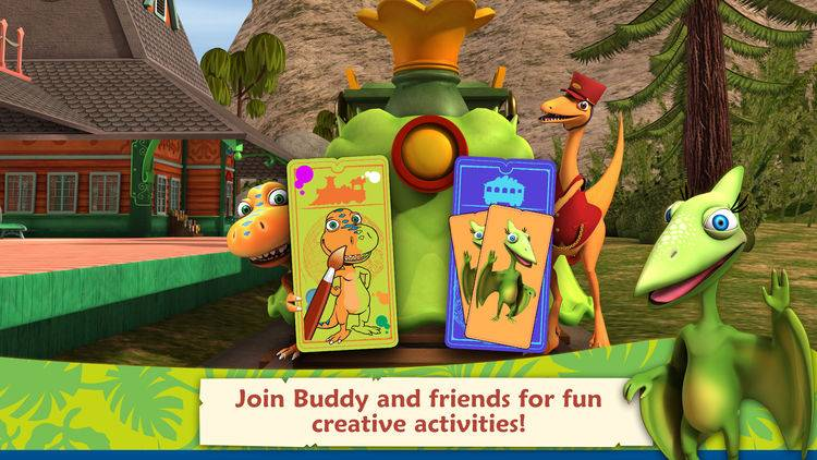 Dinosaur Train: Paint and Match App review