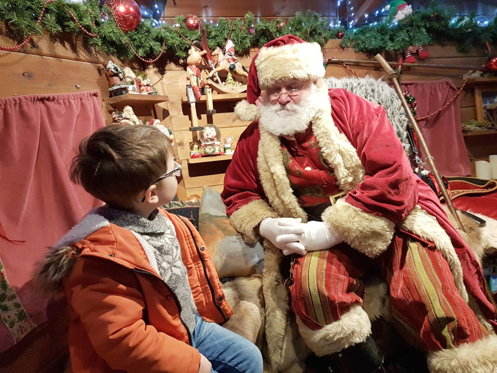 Seeing Santa at Alnwick Garden 2018