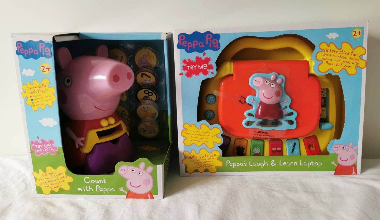Peppa Pig Laugh & Learn Laptop and Peppa Pig Count with Peppa Review & Giveaway