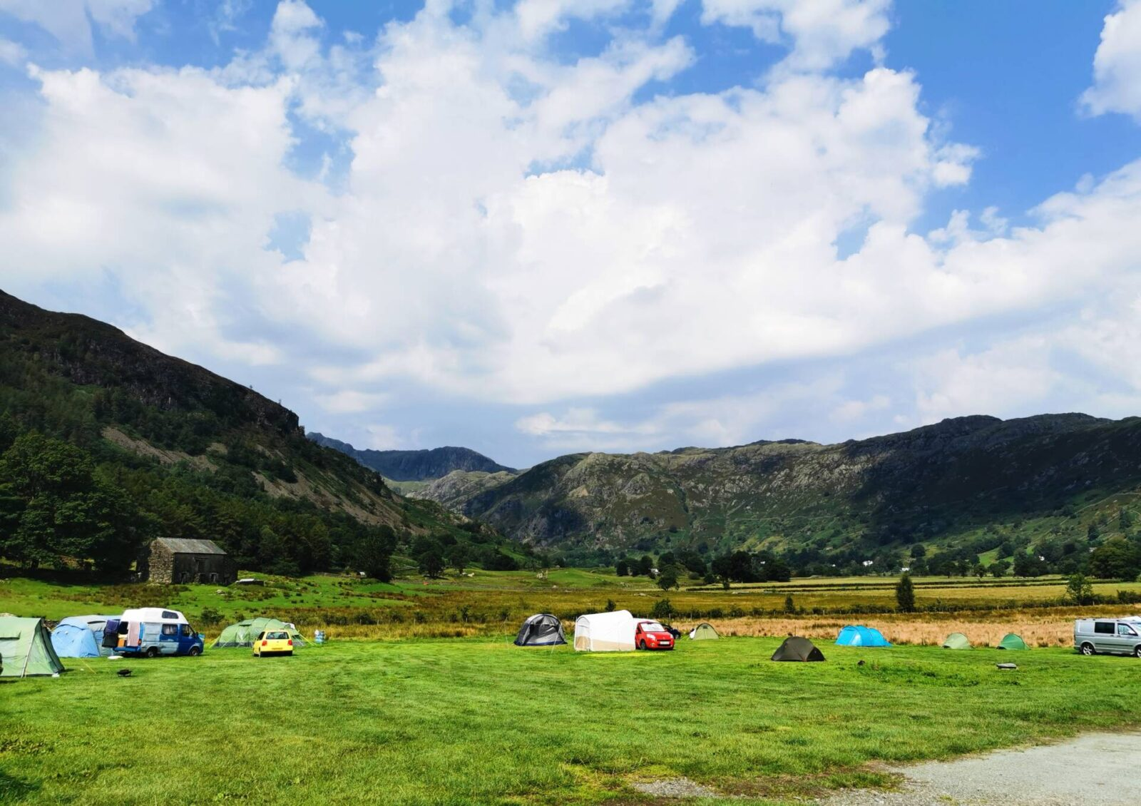 Baysbrown Farm Campsite in Great Langdale, Lake District
