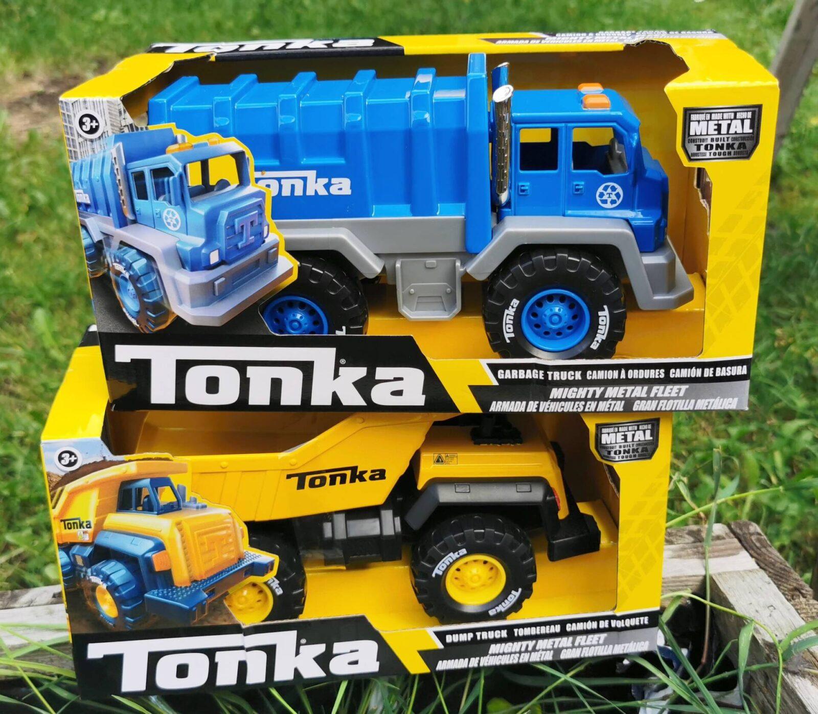 Tonka Mighty Metal Fleet – Dump Truck and Garbage Truck